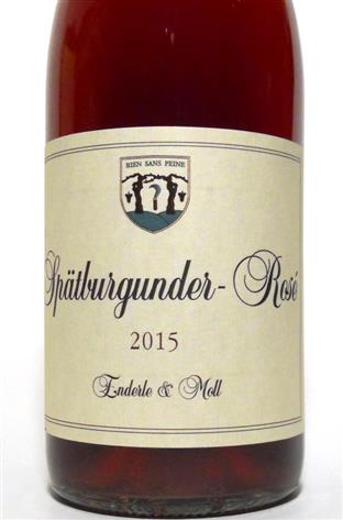 Enderle and Moll 2015 Baden Spätburg Rose