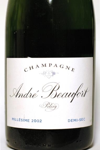 Beaufort, André 2002 Champagne Polisy Demi-Sec