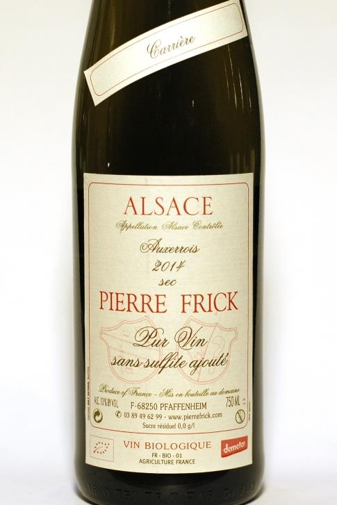 Frick 2014 Alsace Pinot Auxerrois Carriere