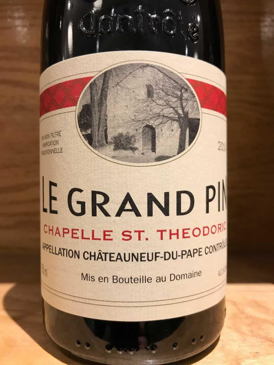 Chapelle St. Theodoric 2012 Châteauneuf du Pape Le Grand Pin