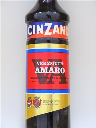 Cinzano Late 1970s Vermouth Rosso Amara 1 L (old bottling)