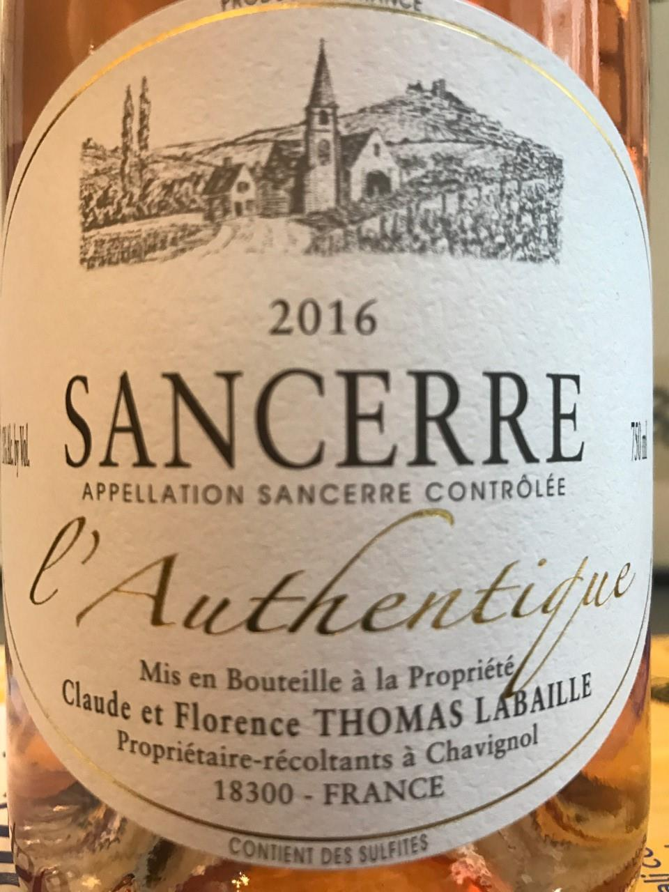Thomas-Labaille 2018 Sancerre Rosé Authentique