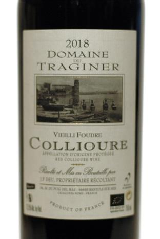 Traginer 2018 Collioure Rouge Vieille Foudre